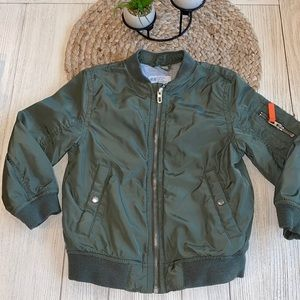 H&M green bomber jacket size 4-5Y LIKE NEW!!!